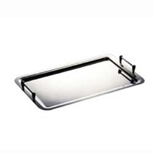 TRAY WITH STACKABLE HANDLES